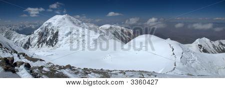 Dzerzhinsky Peak From Lenin Peak