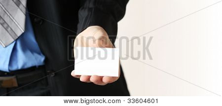 Businessman Giving Business Card