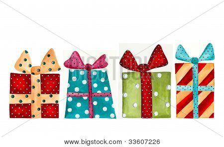 Set of gift wraps.