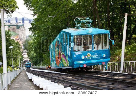 Euro 2012 Railway Funicular In Kiev, Ukraine - May 30