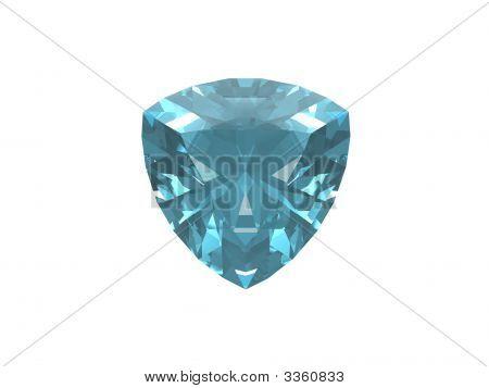 Blue Topas Trillon isoliert