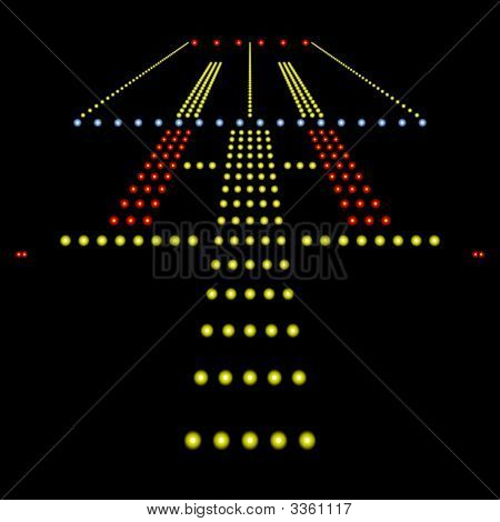 Runway Lights At Night