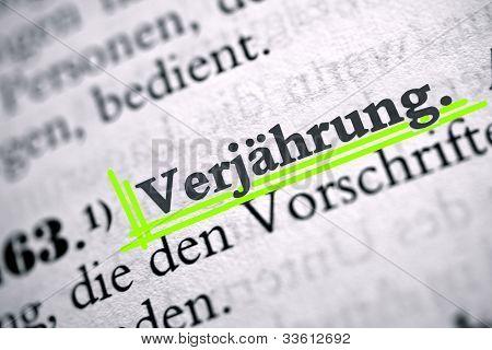 Deutsch-Satzung Einschränkungen