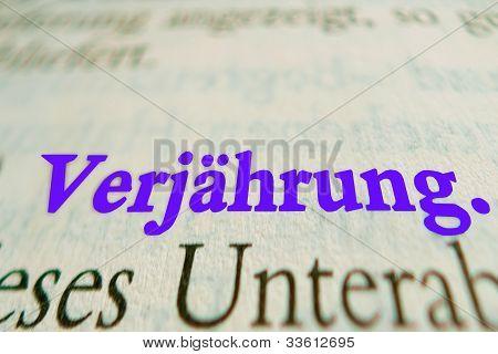 Deutsche Verjährung
