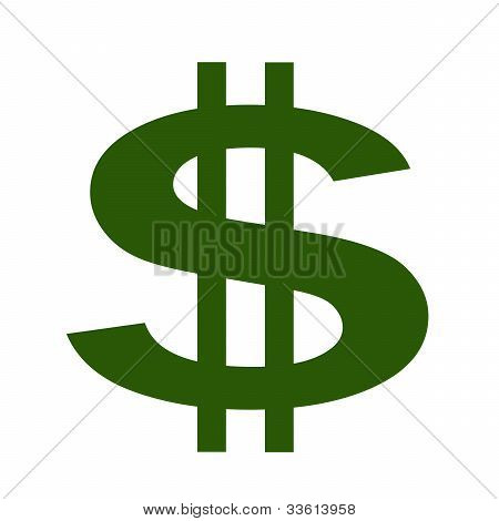 Large Green Dollar Sign