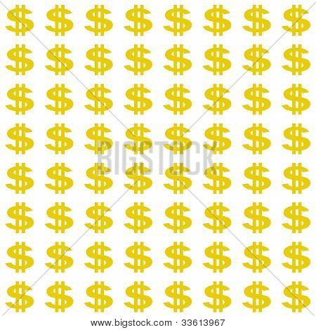 Smaller Gold Dollar Sign Pattern