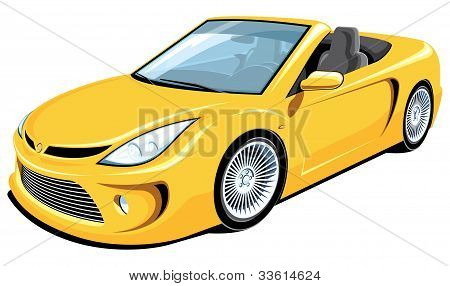 Convertible car, my own car design.