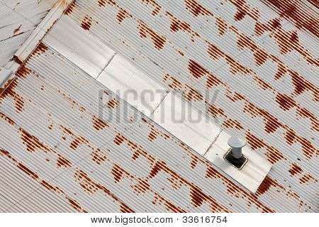 Abstract background pattren of grungy metal roof