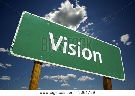 Vision-Straßenschild