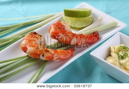 Shrimps On Lemongrass