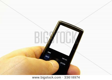 Man Holding Mp3 Player