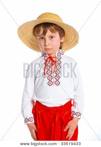 Little boy in Ukrainian national costume
