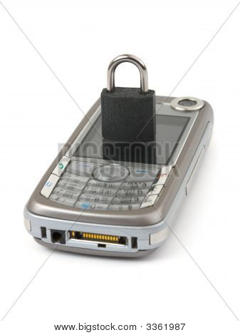 Lock And Mobile Phone - Security Concept