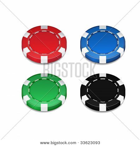 Isolated Casino Chip