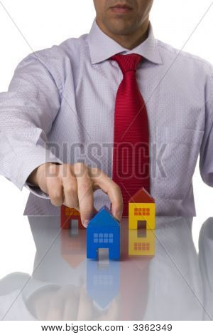 Businessman Selling A House