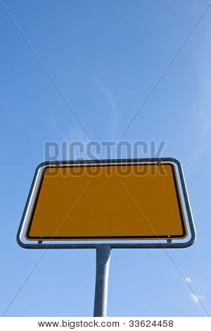 Texture yellow - roed sign