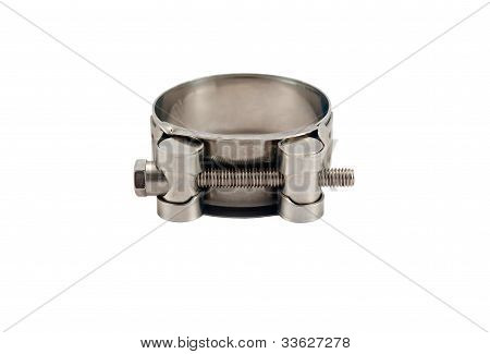 Clamp For Pipe On White