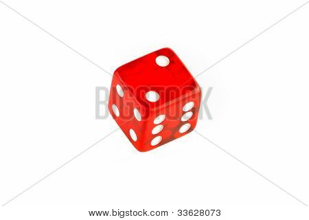 One Transparent Red Die