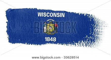 Brushstroke Flag Wisconsin