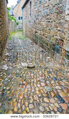 Old Stone Side Street In Breton Town