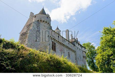 Vista na mansão Medieval