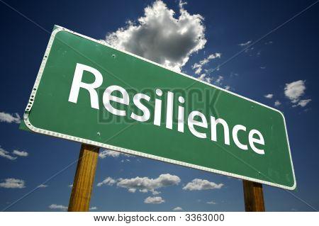 Señal de tráfico de la resiliencia