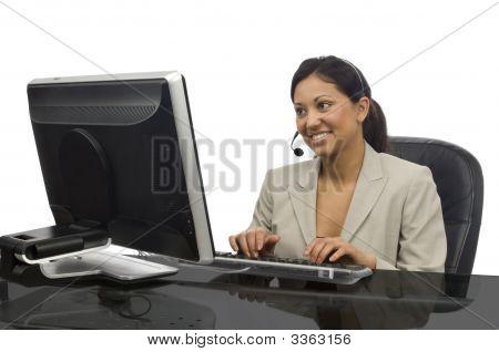 Female Professional On White