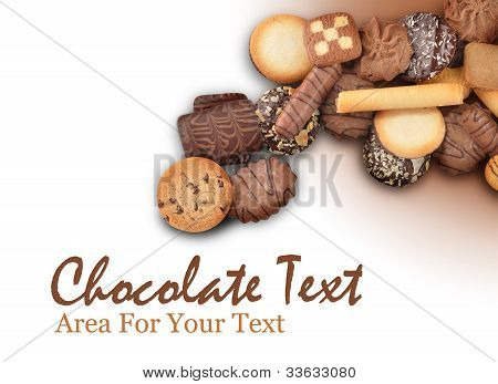 Cookie Assortment on white Background
