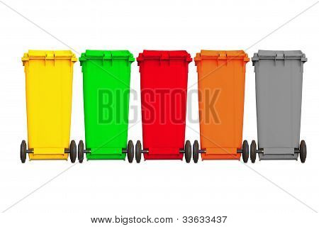 Backside Of Large Five Garbage Bin