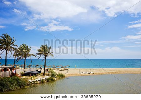 Beach And Sea On Costa Del Sol