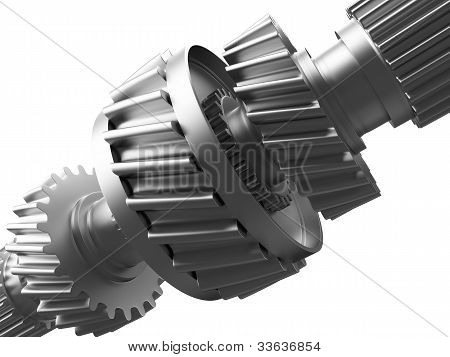 Cogs on a gearwheel