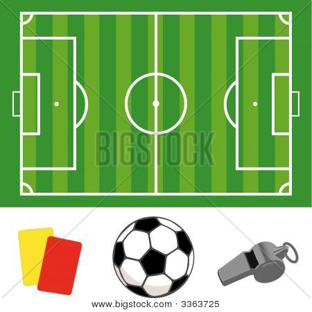 Soccer_Field_And_Whistle_And_Ball