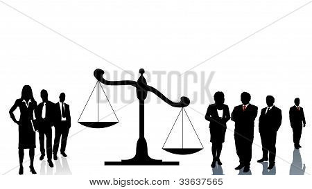 Lawyers teams trial