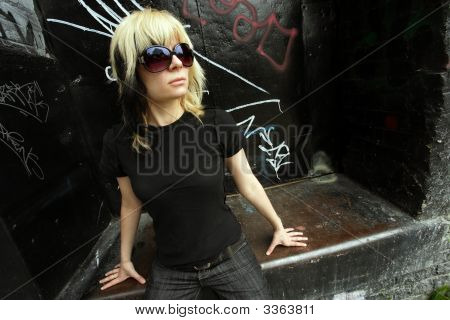 Sunglasses And Blond Hair