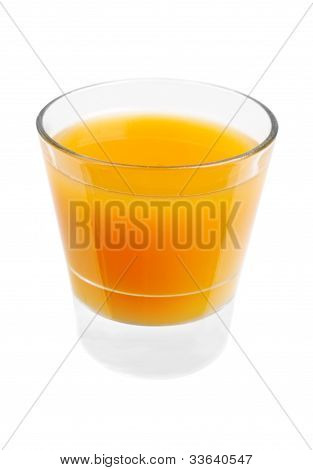 Juice In A Glasses Isolated  On  White