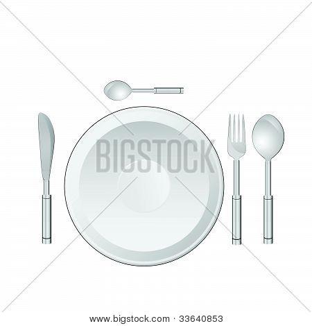 Serviço de jantar Vector Illustration