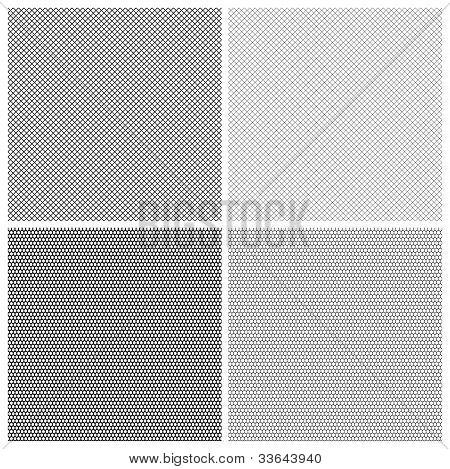 Mesh honeycomb lace pattern