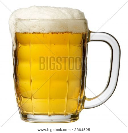 Beer Mug On White
