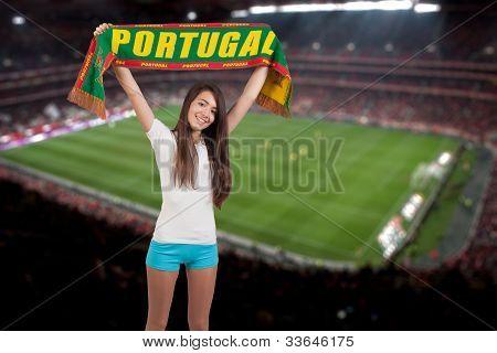 Soccer Fan Stadium On The Back