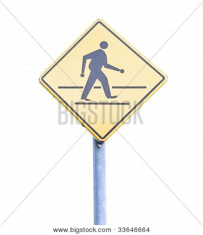 Walk Sign Pole