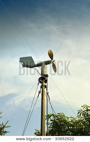 A Windmill Style Of Anemometer