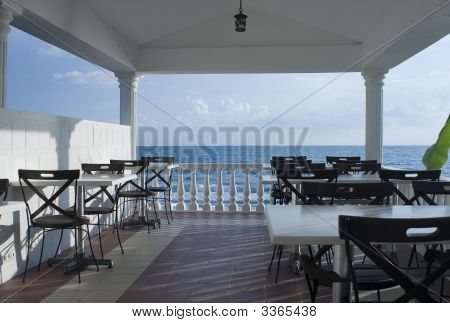 Cafe On Seaside Coast