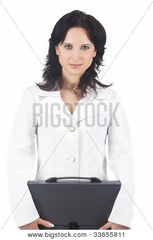 Portrait Of A Businesswoman With Briefcase