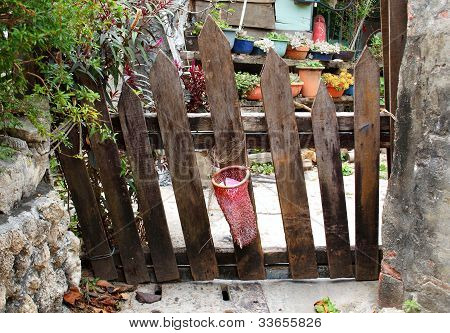 Old Rickety Wooden Gate
