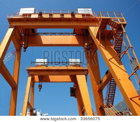 Two Shipyard Gantry Cranes