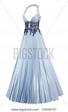 Evening Dress With Pleated Skirt