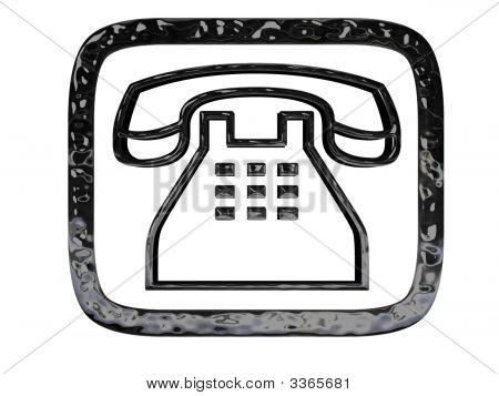 Phone Symbol Black Crome