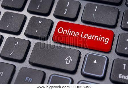 Aprendizaje en línea o conceptos de la educación