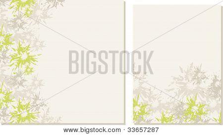 Spring-summer wedding templates (set 1)