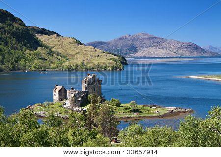 Eilean Donan Castle Under A Blue Sky